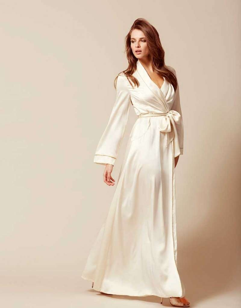 Халат Classic Dressing Gown Long белый