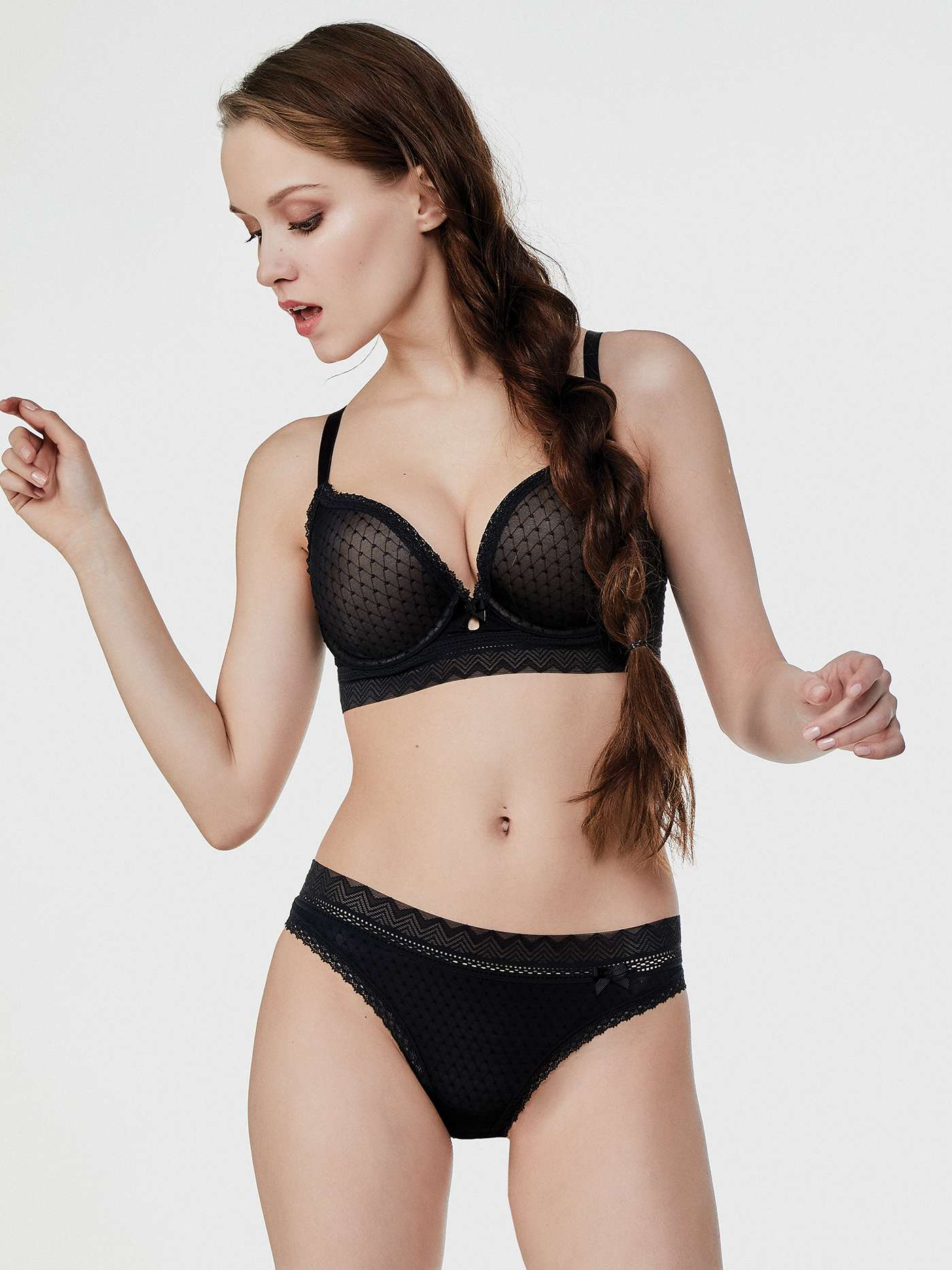 Бюстгальтер push-up Vendetta MANHATTAN Черный BU3325PU